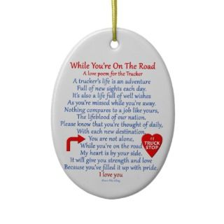 Truckers Love Poem Ornament