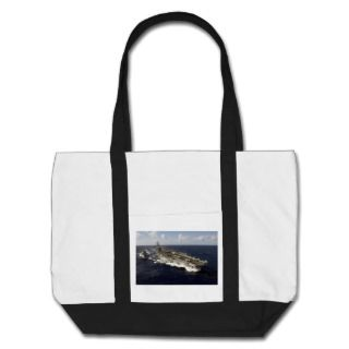 US Navy Aircraft Carrier USS Ronald Reagan Tote Bag
