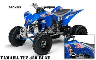 AMR DEKOR KIT YAMAHA YFZ 450 T BOMBER DECALS, DECOR B