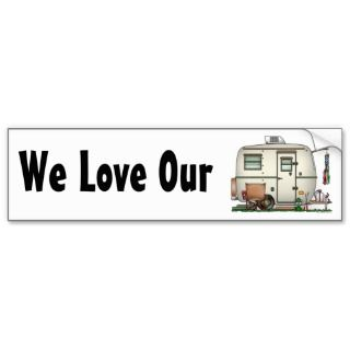 Cute RV Vintage Glass Egg Camper Travel Trailer Bumper Stickers