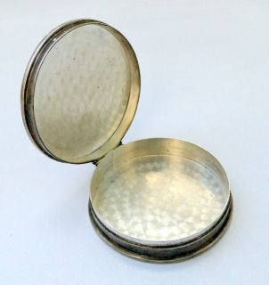 ANTIQUE sterling SILVER pill BOX SNUFF BOX vintage