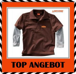 W208a KTM Kids Fish Longsleeve Polo Sweatshirt Shirt Langarm Pullover