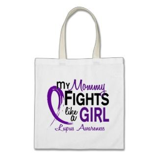 My Mommy Fights Like A Girl 10 Lupus Canvas Bag