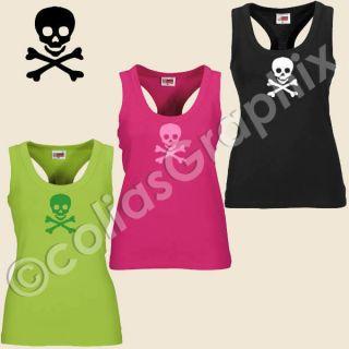 Girlie Totenkopf Tank Top Damen Shirt  Art224