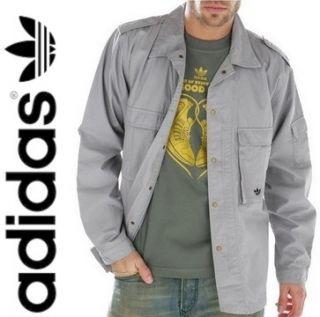 Adidas Originals GND MILITARY Jacket grau Gr. S XL Sommer Jacke Hemd