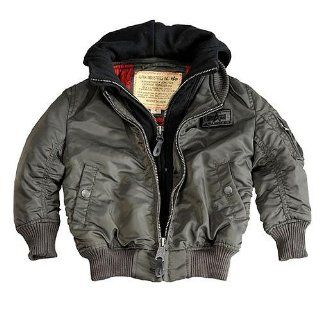 Kids MA 1 D Tec repl.grey, 140, Alpha Industries Kinderjacke