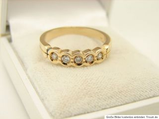Halb Memory Brilliant Ring 585er 14kt Gold Goldschmuck Schmuck Diamant