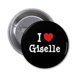 love Giselle heart T Shirt Buttons