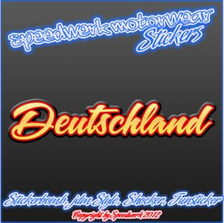 Deutschland EM Fan Sticker 24cm, Shocker Fun Aufkleber, Decal, Schland