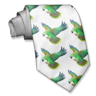 Blue Fronted  Parrot Tie