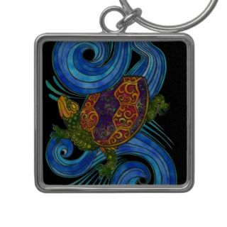 Colorful Sea Turtle Keychain