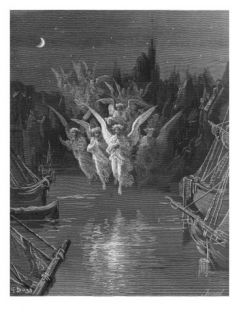 The Angelic Spirits Leave the Dead Bodies and Appear in their Own Forms of Light Giclee Print by Gustave Dore