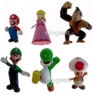 Nintendo Super Mario Luigi Yoshi Donkey 6 Figur Satz