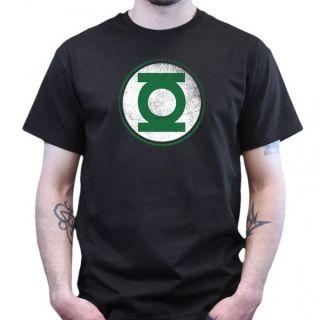 Big Bang Theory   Green Lantern   Distressed T Shirt   schwarz