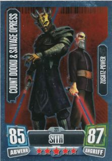 COUNT DOOKU & SAV. OPRESS 221  Star Wars Force Attax 2