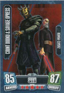 COUNT DOOKU & SAV. OPRESS 221  Star Wars Force Attax 2