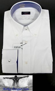Paul & Shark YACHTING Hemd Shirt Langarm Gr. L 42 US 16,5 Silver