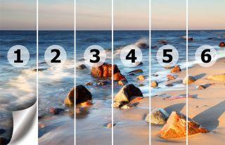 Fototapete Meer Strand mit Steine Nr.223 Größe: 420cmx270cm Foto