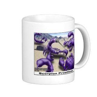 Scorpion Fights Funny Cartoon Gifts & Tees Coffee Mugs