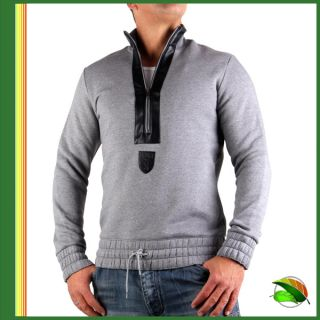 Bikkembergs Herren Sweat Shirt Pullover 231 Grey Gr. L (52)