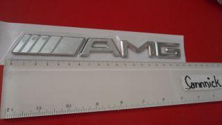 AMG CHROME BADGE EMBLEM LOGO MERCEDES E C SL CLK SLK S A SL55 C63 S55