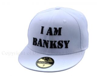 NEW** Banksy ** Graffiti Art Artist Baseball Cap 7 3/8