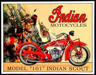 Indian Motorcycle Bike Oldtimer Motorrad Schild 244*