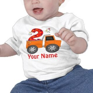 2nd Birthday Dump Truck Personalized T shirt
