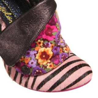 Irregular Choice Flick Flack Court Shoes Pink Black
