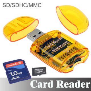 SD MICRO SDHC MMC Memory Card Reader to USB 2.0 Adapter SDHC