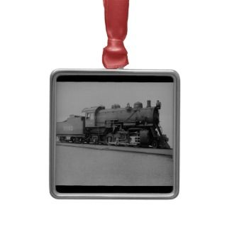 Mikado Vintage Steam Engine Train Christmas Ornaments