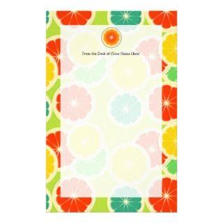 Fresh Citrus Fruit Design, Cute Colorful Stationery Design