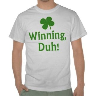 Charlie Sheen Lucky Winning Shirt