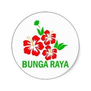 BUNGA RAYA ROUND STICKERS