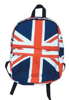 UK Flag British Union Jack Backpack Bag School Rucksack Punk Mod Boys