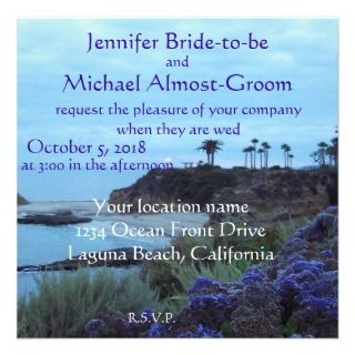 Today I Marry My Best Friend Beach Wedding Custom Invitations