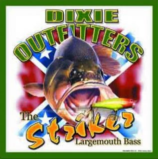 Dixie Outfitters Fishing Striker Largemouth Bass Tin Sign