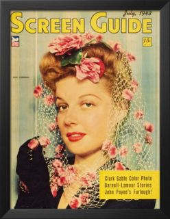 Ann Sheridan   Screen Guide Magazine Cover 1940s Prints