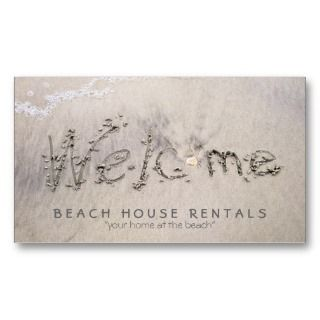 Beach House Welcome (extra pic) Business Card Template