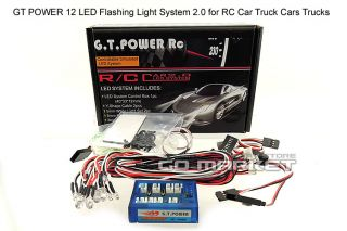 GT Power 1/ 10 RC beleuchtung CAR TRUCK BUGGY lighting Kit FLASHING 12
