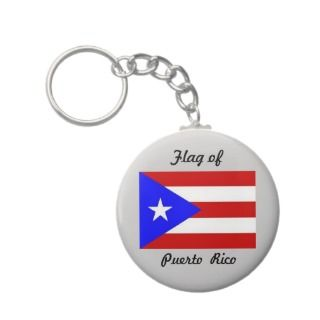 Flag of Puerto Rico Key Chain