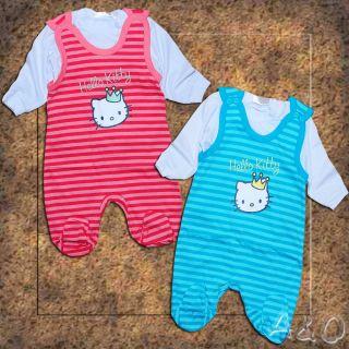 Hello Kitty Strampler SET Gr. 50 56 62 Shirt Strampelhose NEU