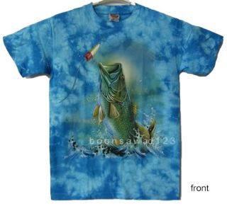 SEA BASS FISH Fishing T Shirt Marine Blue New B44 M