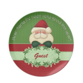 Dear Santa Guest Christmas Plate