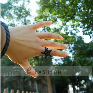 Ring Stern Style Ringe Star Stein Damen Fingerring NEU 102 0135
