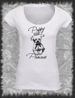 Retro, T Shirt  Puppy Princess, Vintage distressed