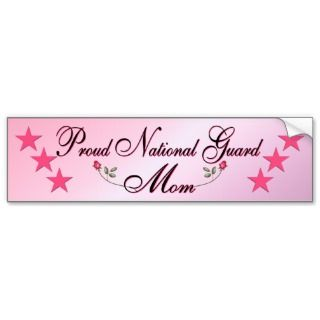 Pink & Proud National Guard Mom Bumper Sticker