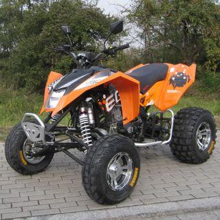 QUAD MAD MAX 250 cc ATV ENDURO STRAßENZULASSUNG ORANGE