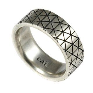 Cai Men Herren Ring 925 Sterlingsilber vintage oxidized Gr. 61 (19.4