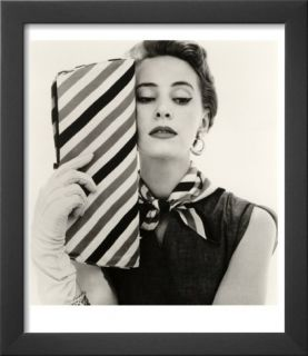 Barbara Miura with Madame Crystal Handbag and Neck Tie, 1953 Prints by John French